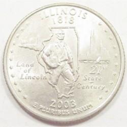 quarter dollar 2003 P - Illinois