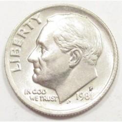 one dime 1981 P