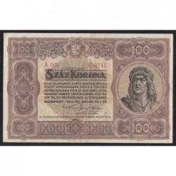 100 korona 1920