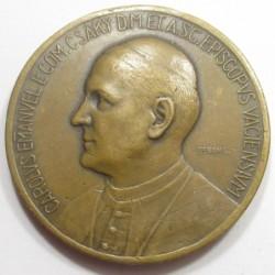 Lajos Berán: Csáky Károly Emmánuel county bishop of Vác commemorative medal 1910