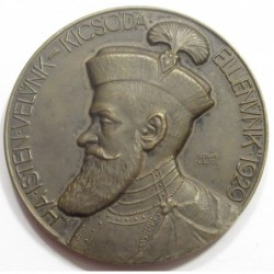 Lajos Berán: Commemorative medal for the 300th anniversary of the death of Gábor Bethlen in 1929