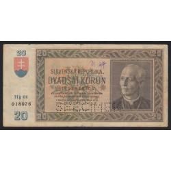 20 korun 1939 - SPECIMEN