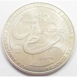 10 euro 2011 - 25th anniversary of EU membership of Portugal and Spain