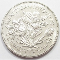 1 dollar 1970 - 100th anniversary of the accession of Manitoba
