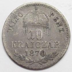 10 krajcár 1870 KB