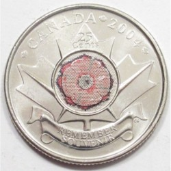 25 cents 2004 P - Remembrance Day