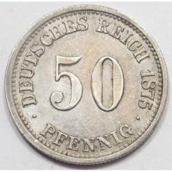 50 pfennig 1875 C
