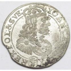 John II Casimir Vasa 6 groszy 1667