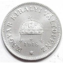 10 fillér 1918 - Artex rosette