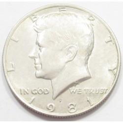 Kenedy half dollar 1981 P