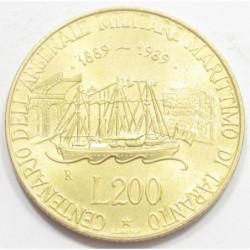 200 lire 1989 - Taranto Navy