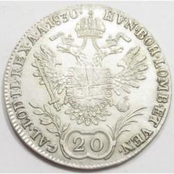 Franz II. 20 kreuzer 1830 C