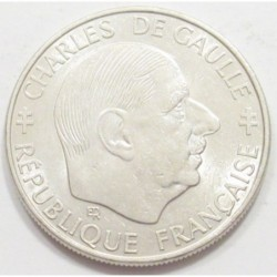 1 franc 1988 - Charles de Gaulle - anniversary of the fifth republic