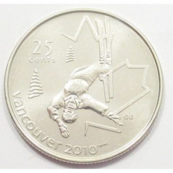 25 cents 2008 - Vancouver Olympics - Freestyle skiing