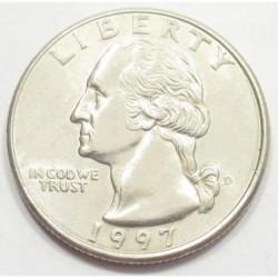 quarter dollar 1997 D