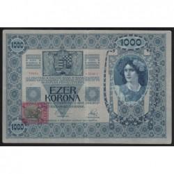 1000 kronen/korona 1919 - ANNULLED CZECHOSLOVAKIAN STAMP