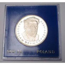 100 zlotych 1977 PP - Wladyslaw Reymont in original case