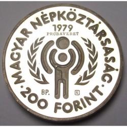 200 forint 1979 PP - International Year of Children - TRIAL