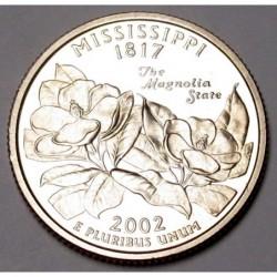 quarter dollar 2002 S PP - Mississippi