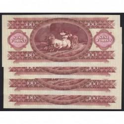 100 forint 1984 - FORDÍTOTT HÁTLAPI ALAPNYOMAT 4DB SORSZÁMKÖVETÕ