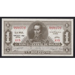 1 boliviano 1928
