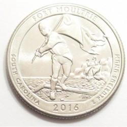 quarter dollar 2016 D - Fort Moultrie