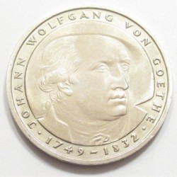 5 mark 1982 D - The 150th anniversary of the death of the poet J. W. von Goethe