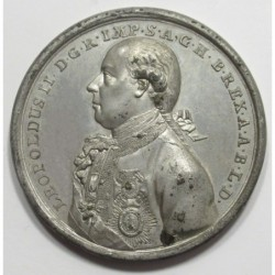 J. Christian Reich: Coronation of Leopold II. in Frankfurt commemorative medal 1790