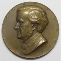 Arnold Hartig: Composer Richard Wagner bronze medaille 1920