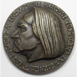 Madarassy Walter: Franz Liszt bronze medaille 1933