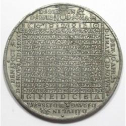 Christian Wermuth: Calendar medal 1694-1760 - Sachsen-Gotha city