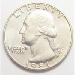 quarter dollar 1981 P