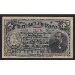 5 centavos 1891
