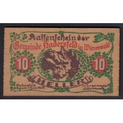 10 heller 1920 - Hadersfeld