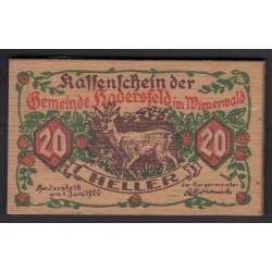 20 heller 1920 - Hadersfeld