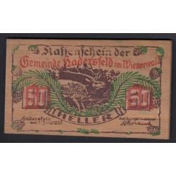 50 heller 1920 - Hadersfeld