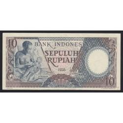 10 rupiah 1958