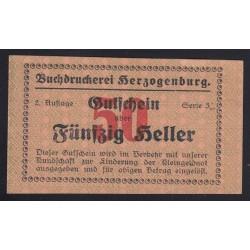 50 heller - Herzogenburg Buchdruckerei - Könyvnyomdai szükségpénz