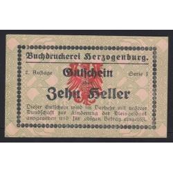 10 heller - Herzogenburg Buchdruckerei - Könyvnyomdai szükségpénz