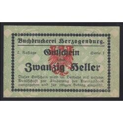 20 heller - Herzogenburg Buchdruckerei - Könyvnyomdai szükségpénz