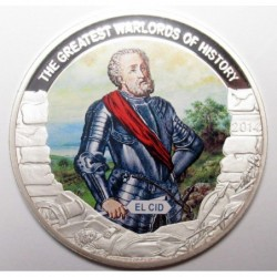 1 dollar 2014 PP - The greatest warlords of history - El Cid