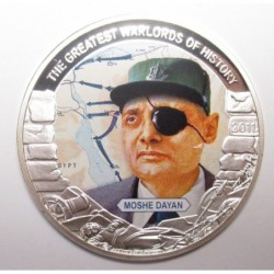 5 dollars 2011 PP - The greatest warlords of history - Moshe Dayan