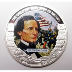 5 dollars 2011 PP - The greatest warlords of history - Jefferson Davis