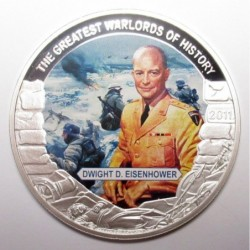 5 dollars 2011 PP - The greatest warlords of history - Dwight D. Eisenhower