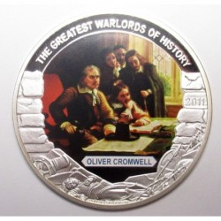 5 dollars 2011 PP - The greatest warlords of history - Oliver Cromwell