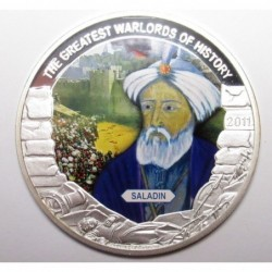 5 dollars 2011 PP - The greatest warlords of history - Saladin