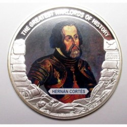5 dollars 2011 PP - The greatest warlords of history - Hernán Cortés