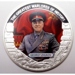 5 dollars 2011 PP - The greatest warlords of history - Georgy Zhukov