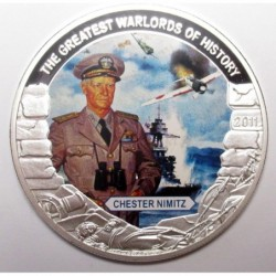 5 dollars 2011 PP - The greatest warlords of history - Chester Nimitz