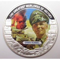 5 dollars 2011 PP - The greatest warlords of history - Erwin Rommel